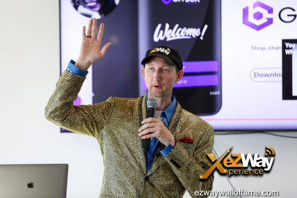 Newport Beach, California, USA. 7th June, 2021. Eric Zuley gives a presentation at the EZWay Network's 'From Zero to Wealth TV Show Celebration' held at a private location in Newport Beach, California. Credit:  Sheri Determan