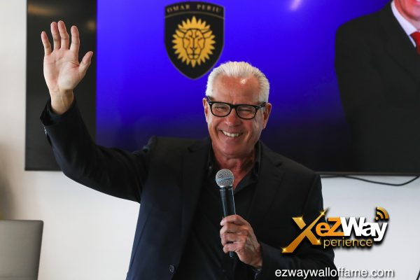 Newport Beach, California, USA. 7th June, 2021. Entrepreneur/speaker Omar Periu gives a pressentation at the EZWay Network's 'From Zero to Wealth TV Show Celebration' held at a private location in Newport Beach, California. Credit:  Sheri Determan
